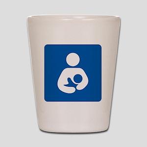 Breastfeeding Symbol [blue] Shot Glass
